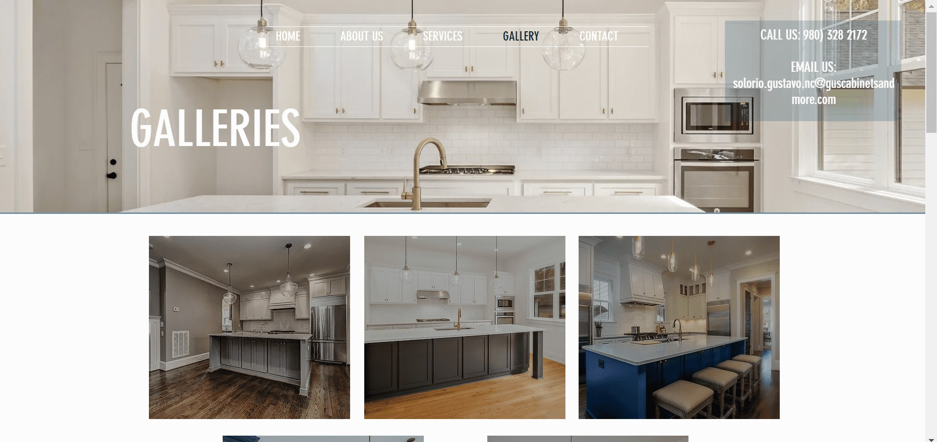 Gus Cabinets Website